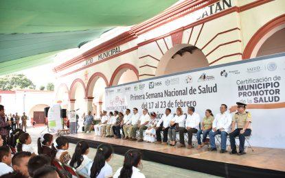 Inicia en Teabo la Primera Semana Nacional de Salud 2018