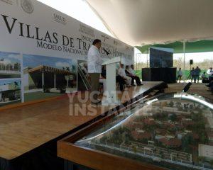 Dan inicio los trabajos de construcción de las Villas de Transición del Hospital Psiquiátrico en el sur de Mérida
