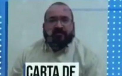 """Javier Duarte se defiende; """"me duele en el alma la persecución de Yunes a mi familia"""""""