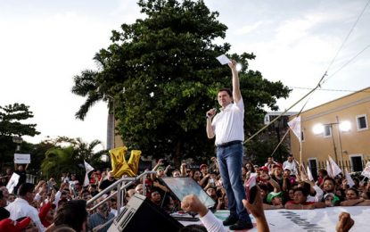 Magno cierre de campaña de Sahuí en Kanasín con Pepe Meade