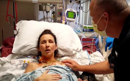 Conmovedor video de una mujer respirando por primera vez tras un transplante de pulmones